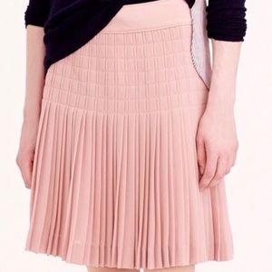 J Crew 10 Pleated Lattice Skirt